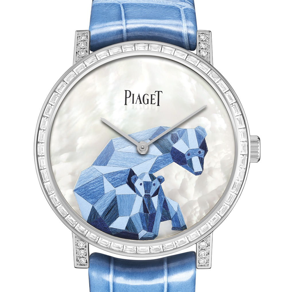 Polar bears watch dial